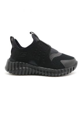 403606N-BBK Slip On Sneaker W/ Quarter Cage Overlay SKECHERS - נעלי תינוקות