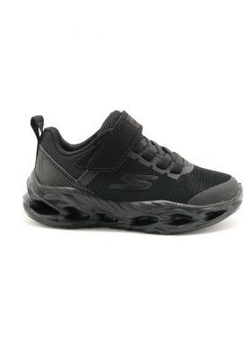405000-LBBK Gore & Strap Sneaker W/ Color Blocked Underlay - נעלי ילדים
