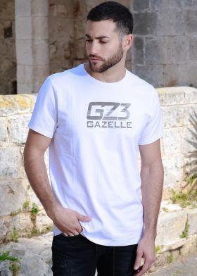 Gazelle טי שירט כותנה גברים- S21ST04-WHT