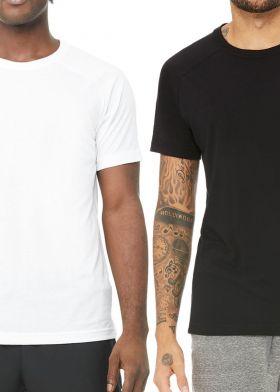 MENS T-SHIRT ROUND NECK-BLACK Gazelle - YJS21BST01 - טי שירט גבר חלק